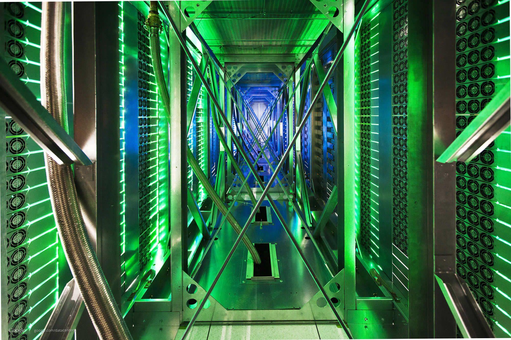 google data center green led